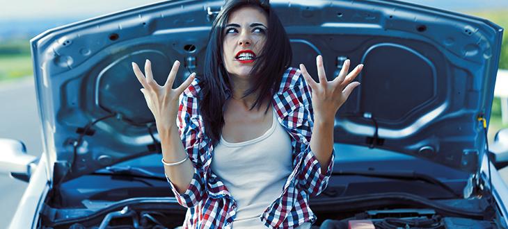 Angry Girl Driver