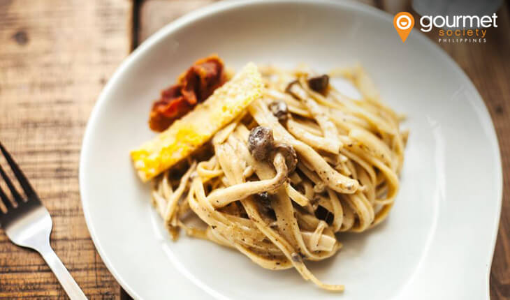 Bacon Mushroom Truffle Pasta from TreehousePh (Gourmet Society Partner Restaurant)