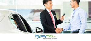 a client and a sales agent negotiating about car loan