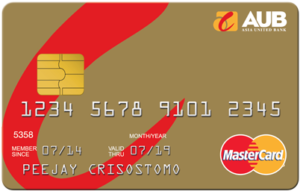 Credit Cards with Low Interest Rate in the Philippines - AUB Gold Mastercard