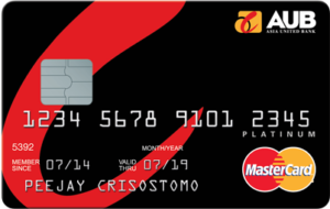 Credit Cards with Low Interest Rate in the Philippines - AUB Platinum Mastercard