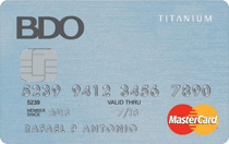 Credit Cards with Low Interest Rate in the Philippines - BDO Titanium Mastercard