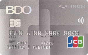 Credit Cards with Low Interest Rate in the Philippines - BDO JCB Platinum