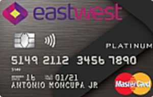 Credit Cards with Low Interest Rate in the Philippines - EastWest Platinum Mastercard