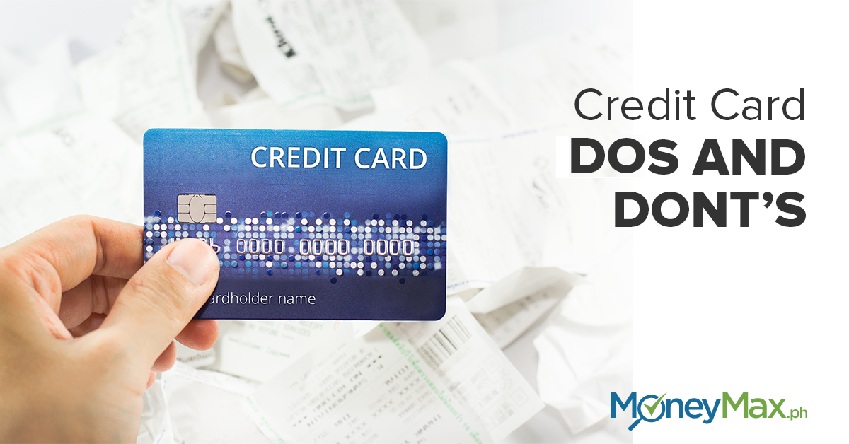 Credit card dos and dont's