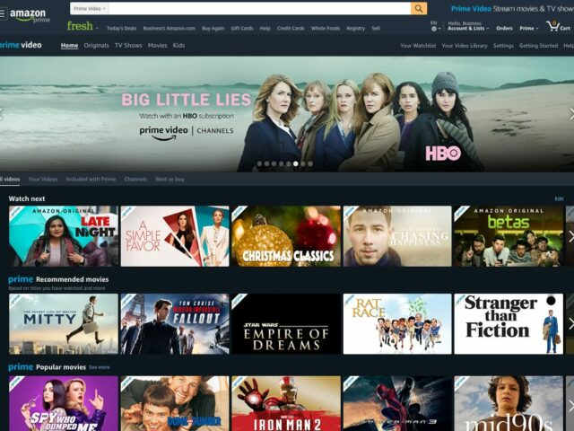 streaming apps - amazon video prime