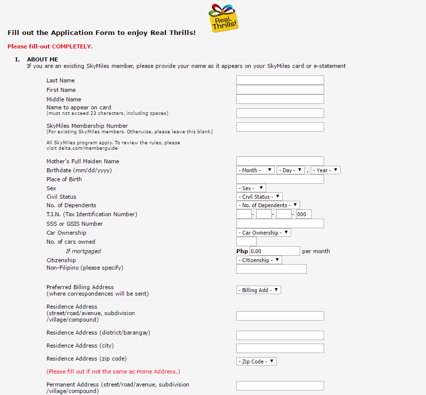 Bpi credit card online application