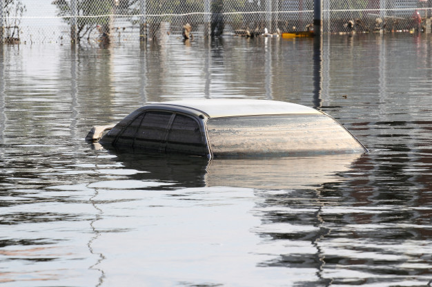 importance of car insurance - flooded car