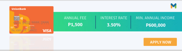 Credit Cards With No Interest in the Philippines - Unionbank Classic Visa