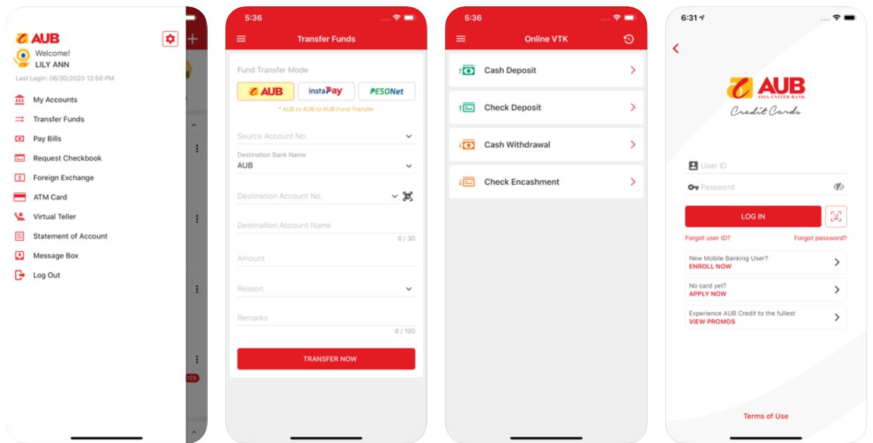 mobile banking apps - aub mobile