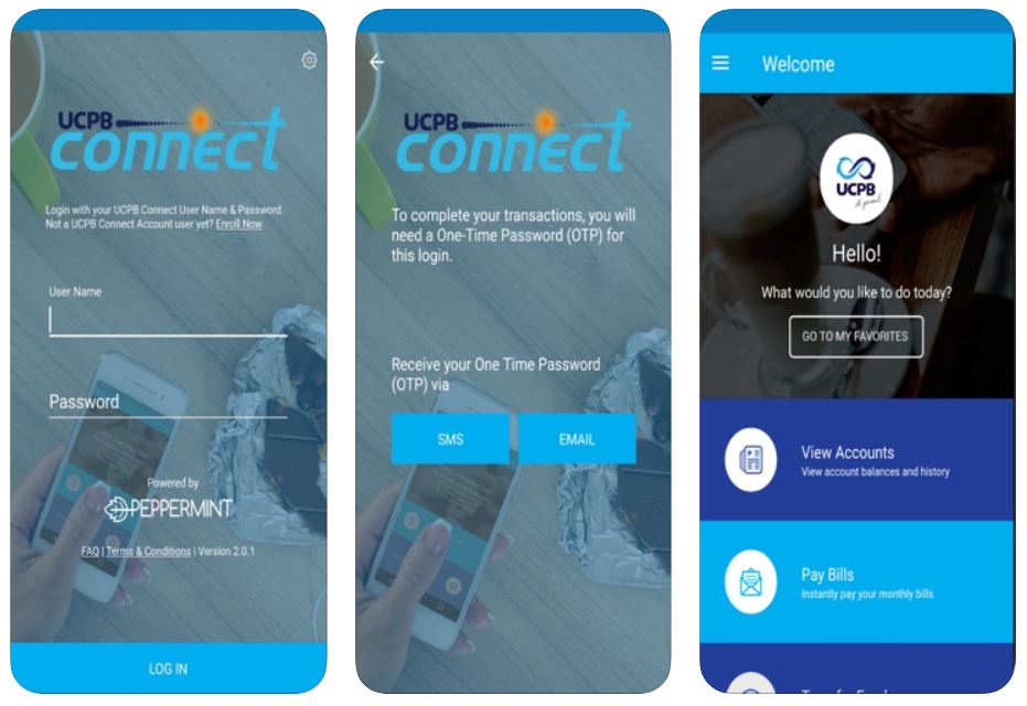 mobile banking apps - ucpb connect