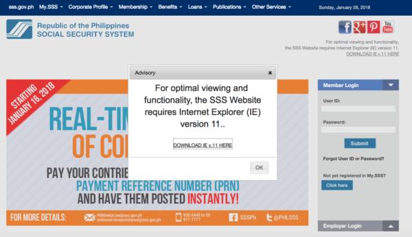 SSS Contribution Online - Visit the SSS Website