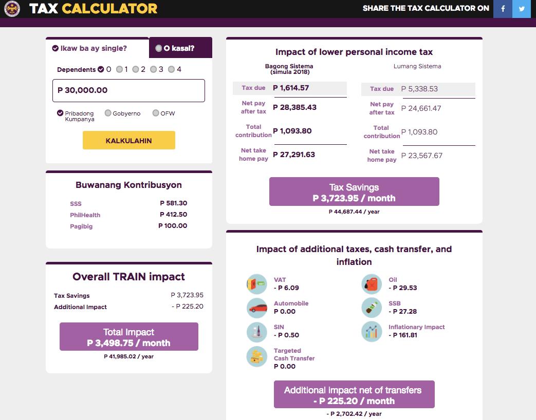 DOF tax calculator