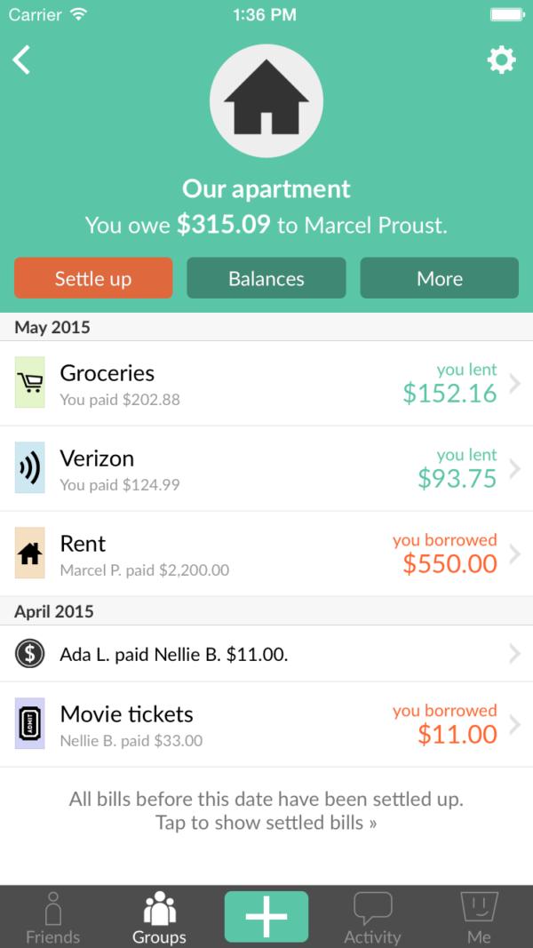 Budget Apps - Splitwise app
