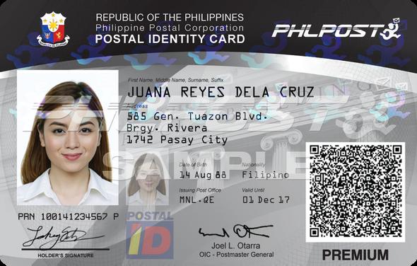 Valid IDs Philippines - Postal ID