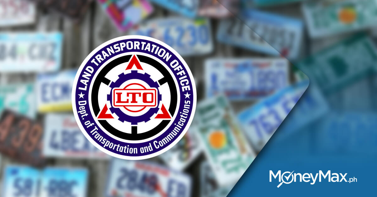LTO License Plate | MoneyMax.ph