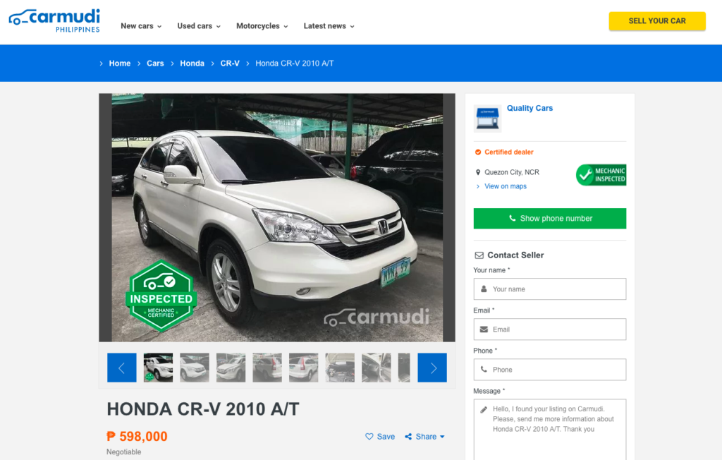 Top 5 Websites For Buying Second Hand Cars In The Philippines