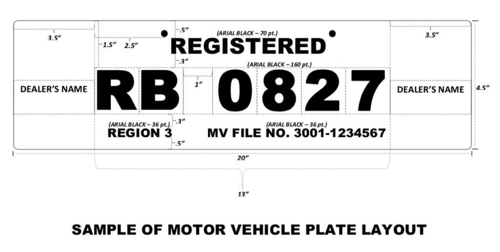 Temporary LTO License Plate Specs | MoneyMax.ph