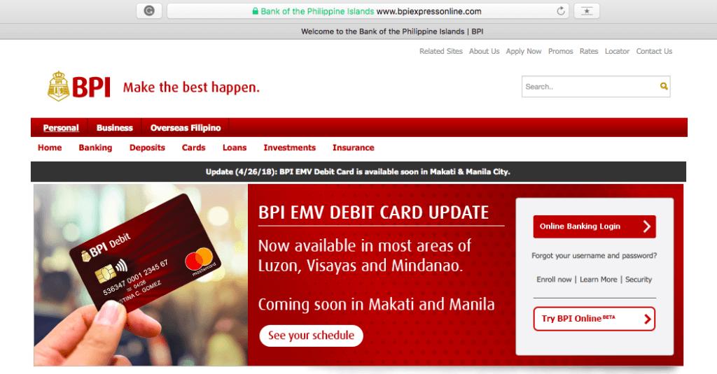 BPI Online Banking Site | MoneyMax.ph