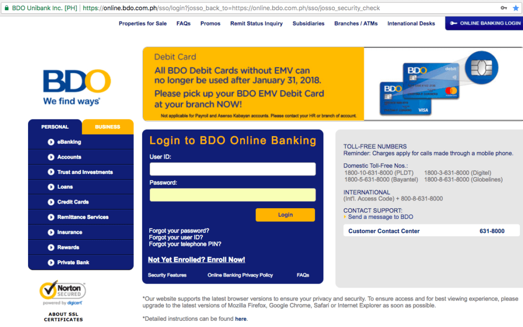 BDO Online Banking Review: Everything You Need to Know