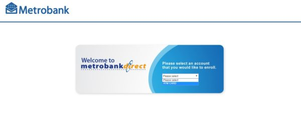 Metrobank Direct Online - Metrobank Direct Enrollment Page