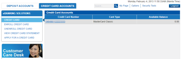 Metrobank Direct Online - Metrobank Direct Credit Card Management