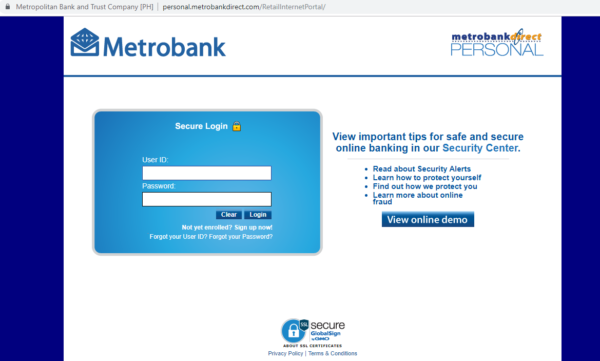 Metrobank Direct Online - Metrobank Direct Homepage