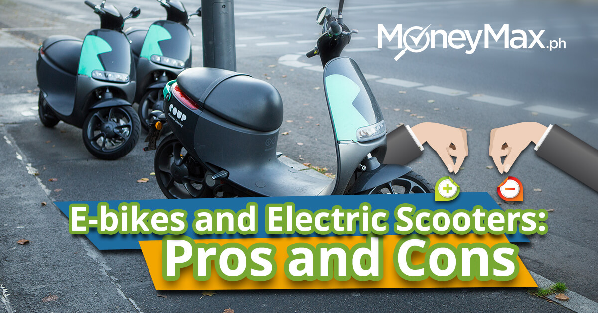 E-Bikes and E-Scooters Pros and Cons | MoneyMax.ph