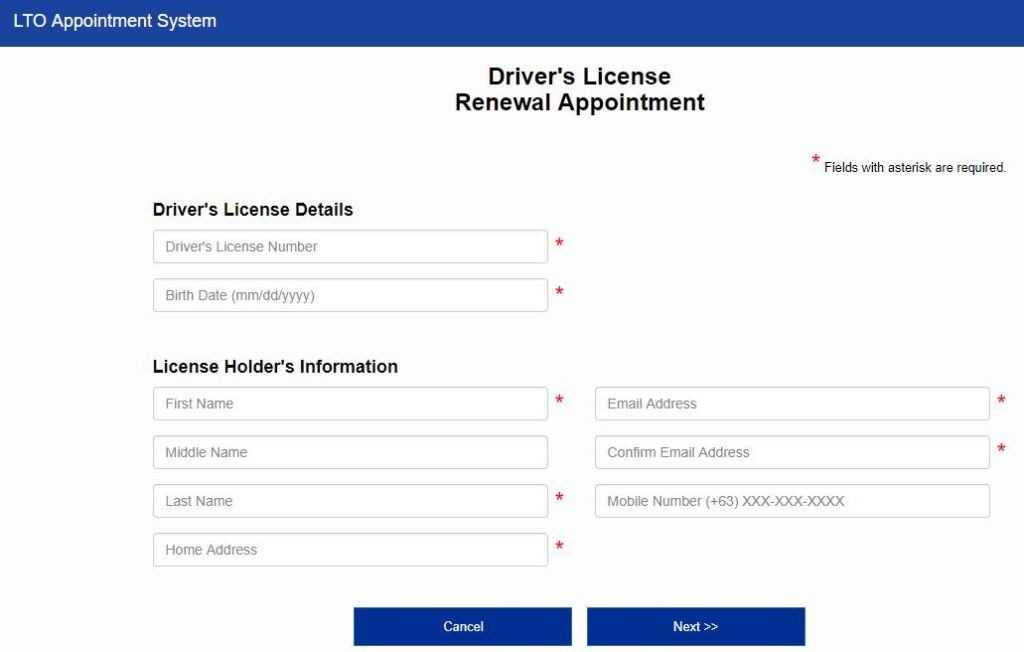 LTO Online Appointment for Car Registration and License Renewal