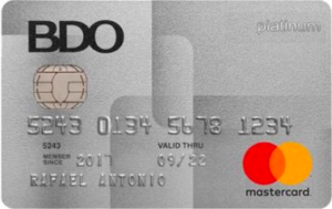 Credit Cards with Low Interest Rate in the Philippines - BDO Platinum Mastercard