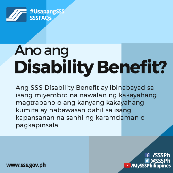 What is SSS Disability Benefit | MoneyMax.ph