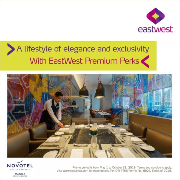 EastWest Credit Card Promo 2019 - Novotel Manila Promo