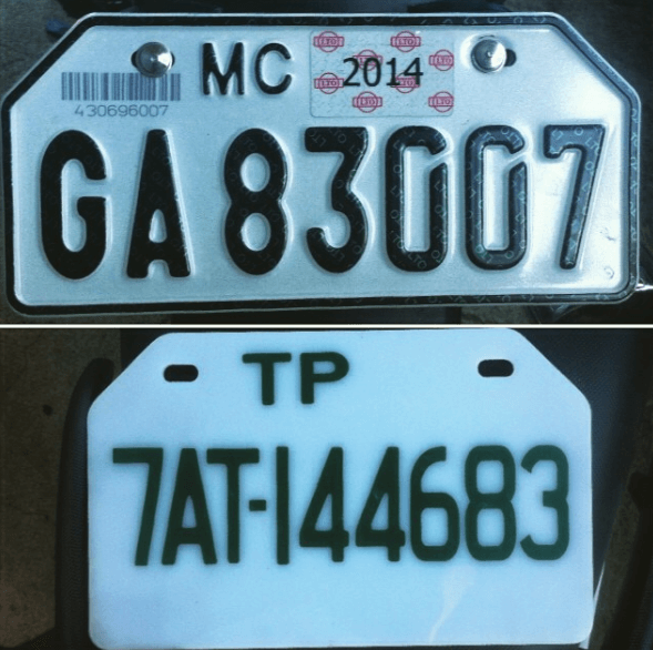 New LTO License Plate - Motorcycle Plate | MoneyMax.ph