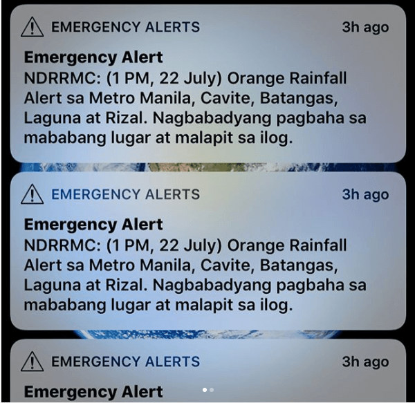 NDRRMC Rainfall Warning Advisory | MoneyMax.ph