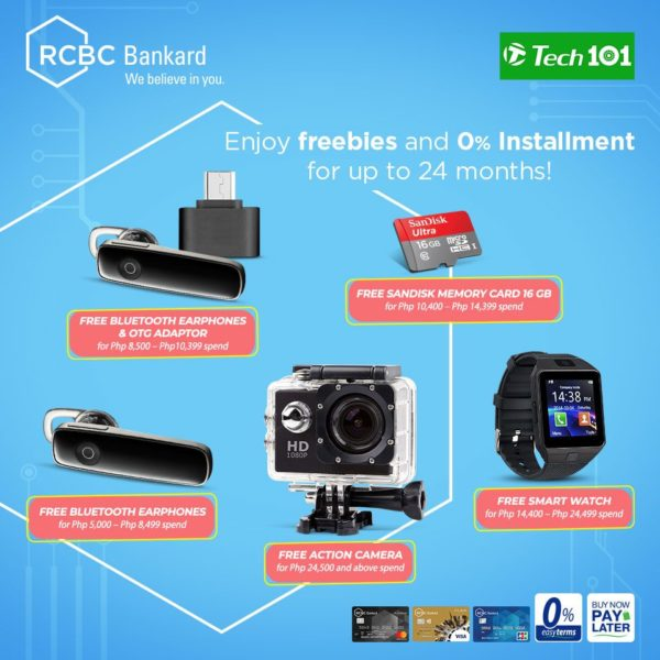 RCBC Credit Card Promo - Free Gadgets Tech101