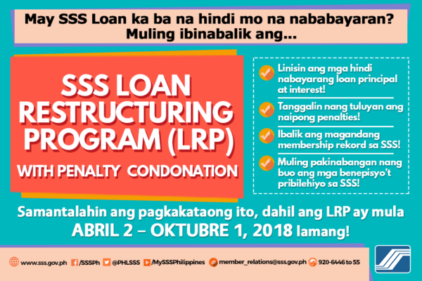 SSS Loan Restructuring Program | MoneyMax.ph