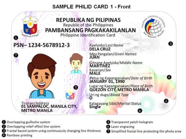 Sample National ID Card | MoneyMax.ph