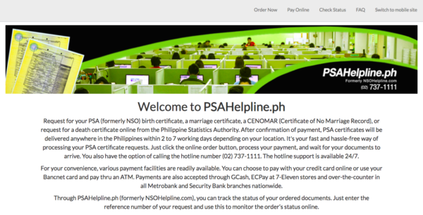 PSA Online Services Philippines - PSO Online Application via PSA Helpline