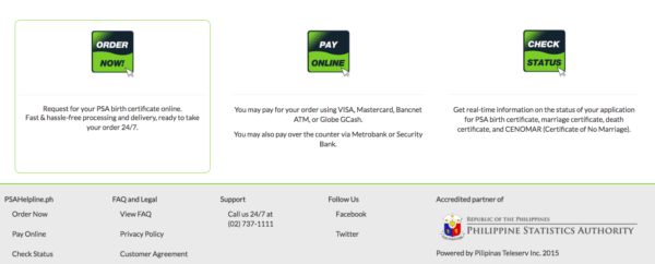 PSA Online Services Philippines - How to Get PSA Certificate