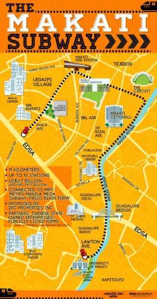 Mega Manila Subway Map.Makati Subway System What To Expect Moneymax Ph