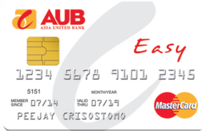Credit Card for Low Income - AUB Easy Mastercard