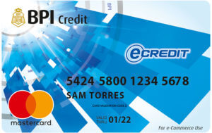 Credit Card for Low Income - BPI eCredit Card