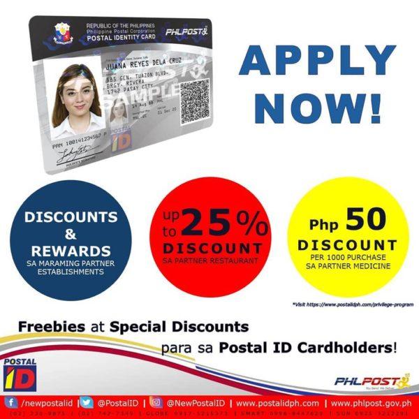Postal ID Application - Postal ID discounts
