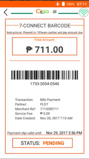 Utility Bills Payment - 7-Eleven CliQQ