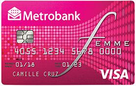 Best Credit Cards for Millennials - Metrobank Femme Visa