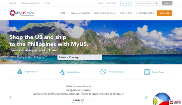 International Shipping - MyUS