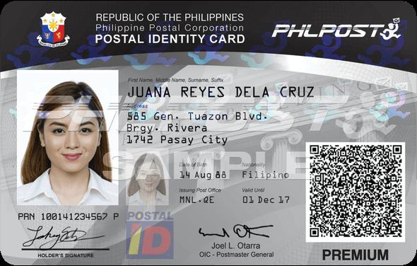 Postal ID Application - Sample PHLPost ID
