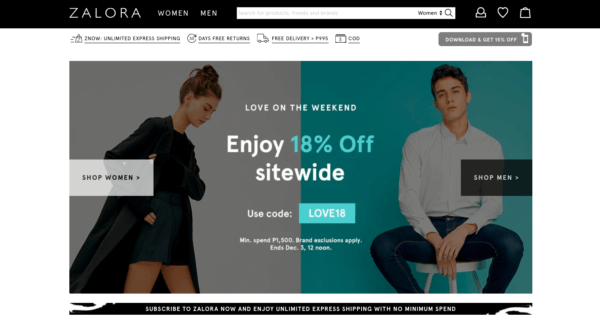 Online Shopping Sites Philippines - Zalora Philippines