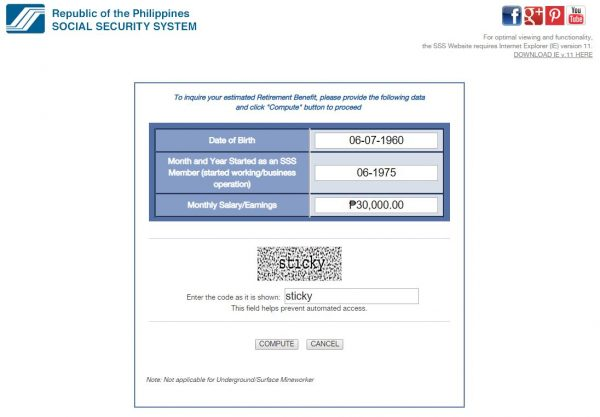 SSS Pension Computation Guide for Retirement Planning - SSS online pension calculator