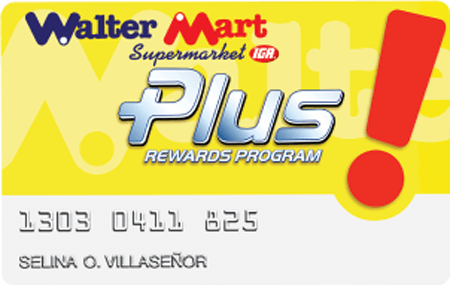 Grocery Shopping Tips - Walter Mart Plus Card
